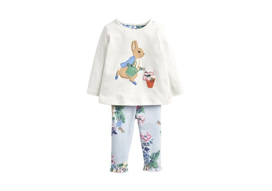 Joules Baby Poppy Applique Top And Trouser Set Official Peter Rabbit Collection