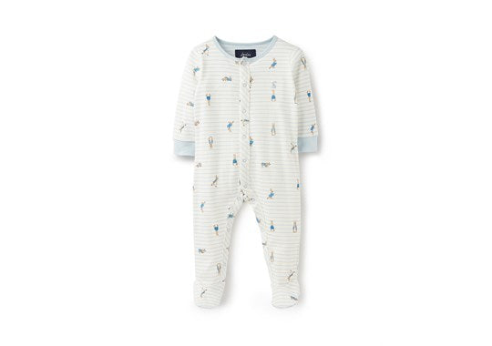 Joules Baby Ziggy Printed Baby grow With Feet Peter Rabbit Official Collection