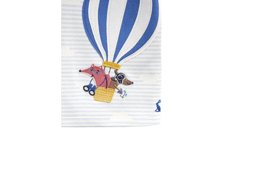 Joules Baby Jack Applique Top Blue Balloon