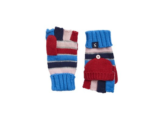 Joules Girls Ailsa Joules Glitten Converter Glove Multi Red Stripe