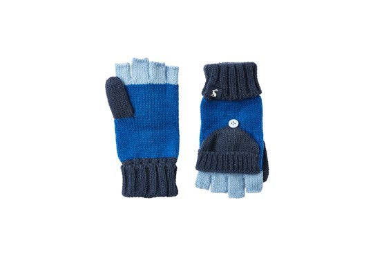 Joules Boys Handy Converter Gloves Dark Blue