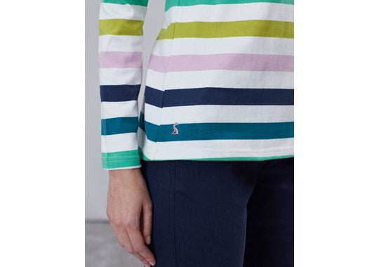 Joules Ladies Harbour Long Sleeve Jersey Top Lilac Stripe