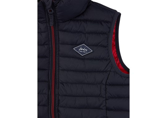 Joules Boys Crofton Warm Welcome Packaway Gilet Navy