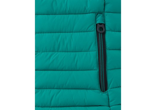Joules Boys Crofton Warm Welcome Packaway Gilet Turtle Green