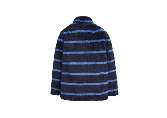 Joules Boys Woozle Fleece Overhead Navy Stripe