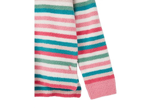 Joules Girls Seaham Chenille Jumper Multi Stripe