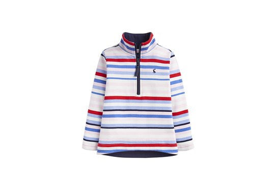Joules Girls Fairdale 1/2 Zip Sweatshirt Multi Stripe