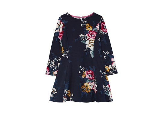 Joules Girls Erin Long Sleeve  Skater Dress 30th Anniversary Floral Print