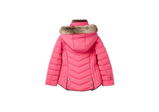 Joules Girls Gosling Quilted Coat Hot Pink
