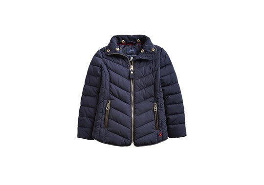 Joules Girls Gosling Quilted Coat Navy
