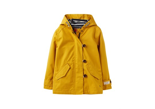 Joules Girls Coast Waterproof Coat Mini Me Collection Antique Gold