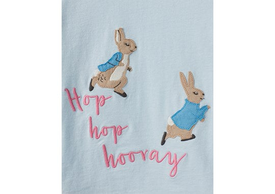 Joules Girls Ava Applique T-Shirt Official Peter Rabbit Collection