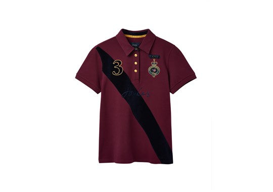 Joules Ladies Claredon Ladies Polo Shirt Game Bird in Plum