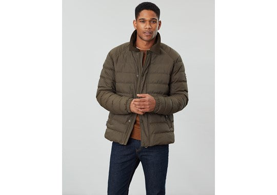 Joules Mens Bayford Padded Outer Coach Jacket Green