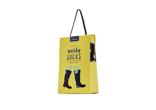 Joules Ladies Welton Printed Fleece Welly Liners