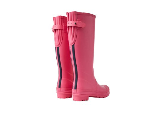 Joules Ladies Field Welly With Adjustable Back Gusset Magenta
