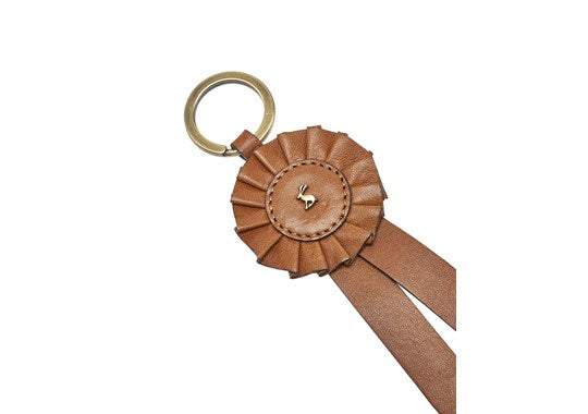 Joules Ladies Coleford 30th Anniversary Leather Rosette Keyring