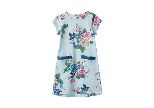 Joules Girls Patch Official :Peter Rabbit Pocket Dress