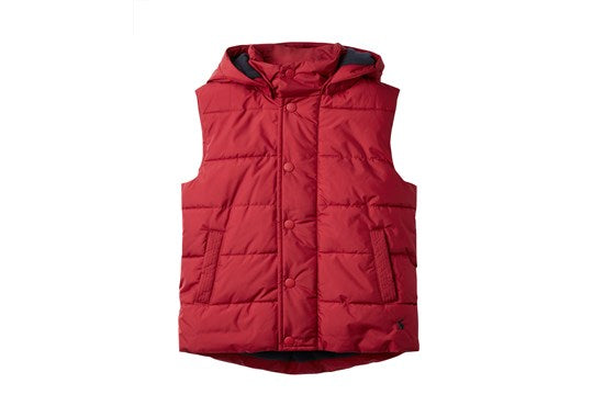 Joules Boys Karlsen Padded Gilet Red