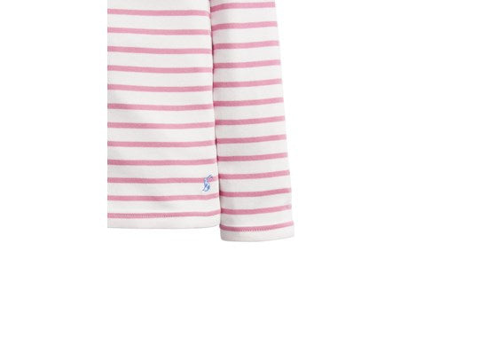 Joules Girls Harbour Stripe  Harbour Cream Pink Cherry Blossom Stripe