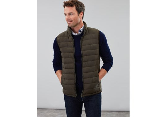 Joules Mens Go To Gilet Lightweight Barrel Gilet Green