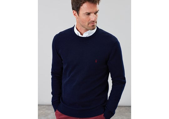 Joules Mens Jarvis Cotton Crew Neck Jumper Navy 207997