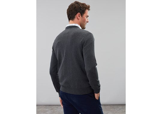 Joules Mens Jarvis Cotton Crew Neck Jumper Grey 207997