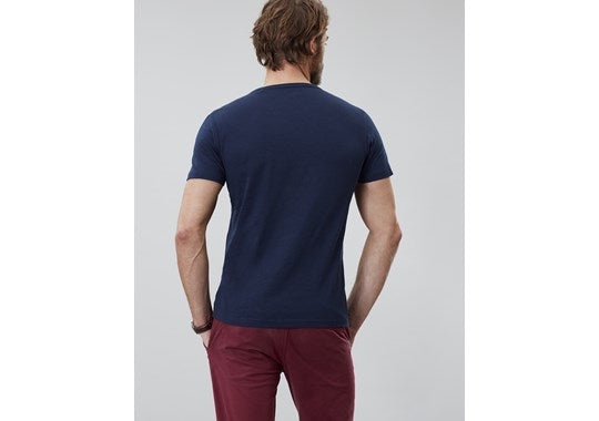 Joules Mens Denton Solid Crew Neck Tee Navy