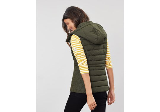 Joules Ladies Padston Quilted Gilet Everglade Green