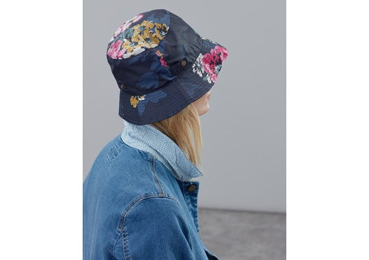 Joules Ladies Right as Rain Showerproof Packaway Hat 30th Anniversary Floral