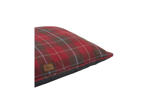 Joules Rosewood Dog Restwell Mattress Red Tartan