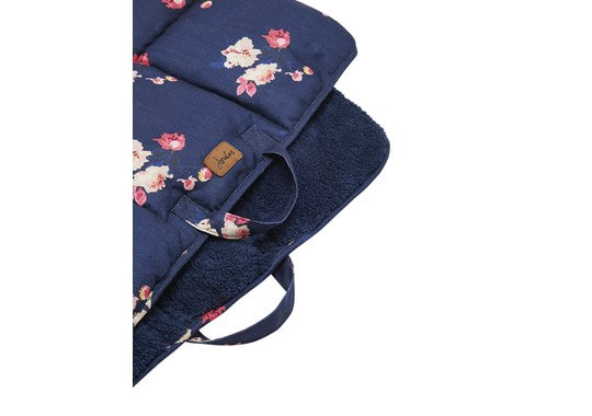 Joules Rosewood Pet Dog Bed Travel Mat Dog Navy Floral Print
