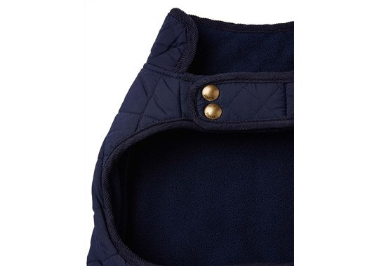 Joules x Rosewood Pet Dog Coat Newdale Quilted Jacket Navy