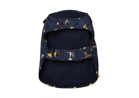Joules x Rosewood Pet Dog Coat Rain Jacket Water Resistant Navy Dog Print