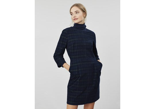 Joules Ladies Cordelia Pincord Dress Navy Check