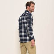 Brakeburn Mens Check Shirt Navy