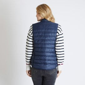 Weirdfish Ladies Sammy Wadded Gilet Dark Navy