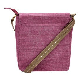 Weirdfish Ladies Loula Plain Cross Body Bag Purple Potion