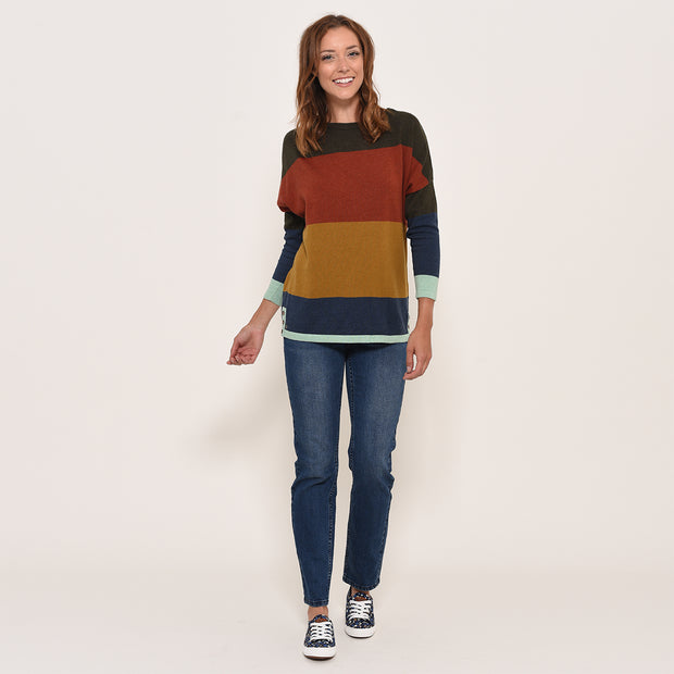 Brakeburn Ladies Stripe Jumper Relaxed Fit