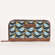 Brakeburn Ladies Finch Print Zip Around Purse
