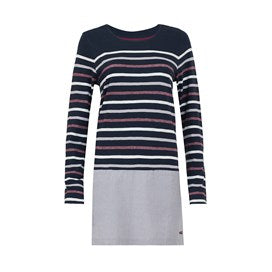 Weirdfish Ladies Alta Striped Jersey Tunic Dark Navy