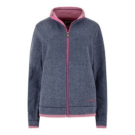Weirdfish Ladies Ariana Full Zip Grid Fleece Navy