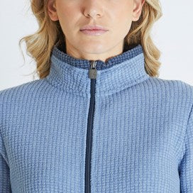 Weirdfish Ladies Ariana Full Zip Grid Fleece Light Blue