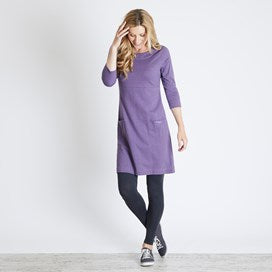 Weirdfish Ladies Starburst Marled Single Jersey Dress Dewbury Marl