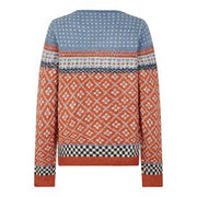 Weirdfish Ladies Sadie Fair Isle Jumper Mango