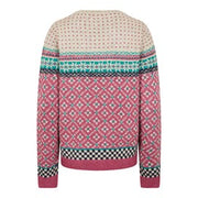 Weirdfish Ladies Sadie Fair Isle Jumper Malaga