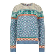 Weirdfish Ladies Sadie Fair Isle Jumper Light Blue