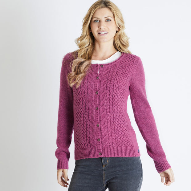 Weirdfish Ladies Brielle Cable Outfitter Cardigan Malaga