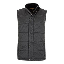 Weirdfish Mens Victor Pigment Printed Wadded Gilet
