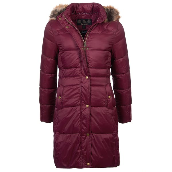 Barbour Ladies Caldbeck Quilt Bordeaux
